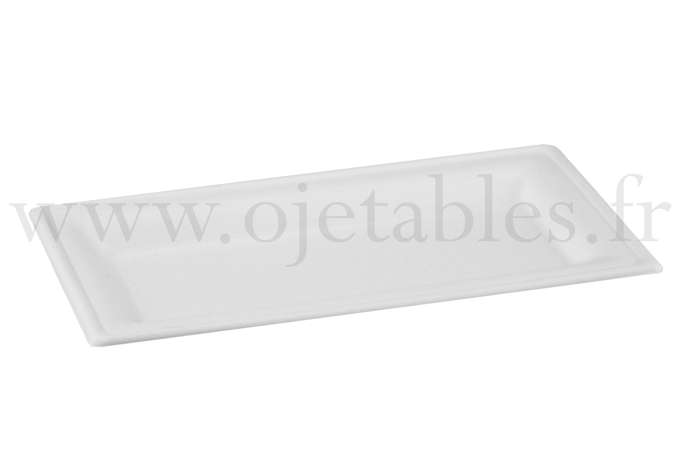 Assiette rectangle en pulpe de canne