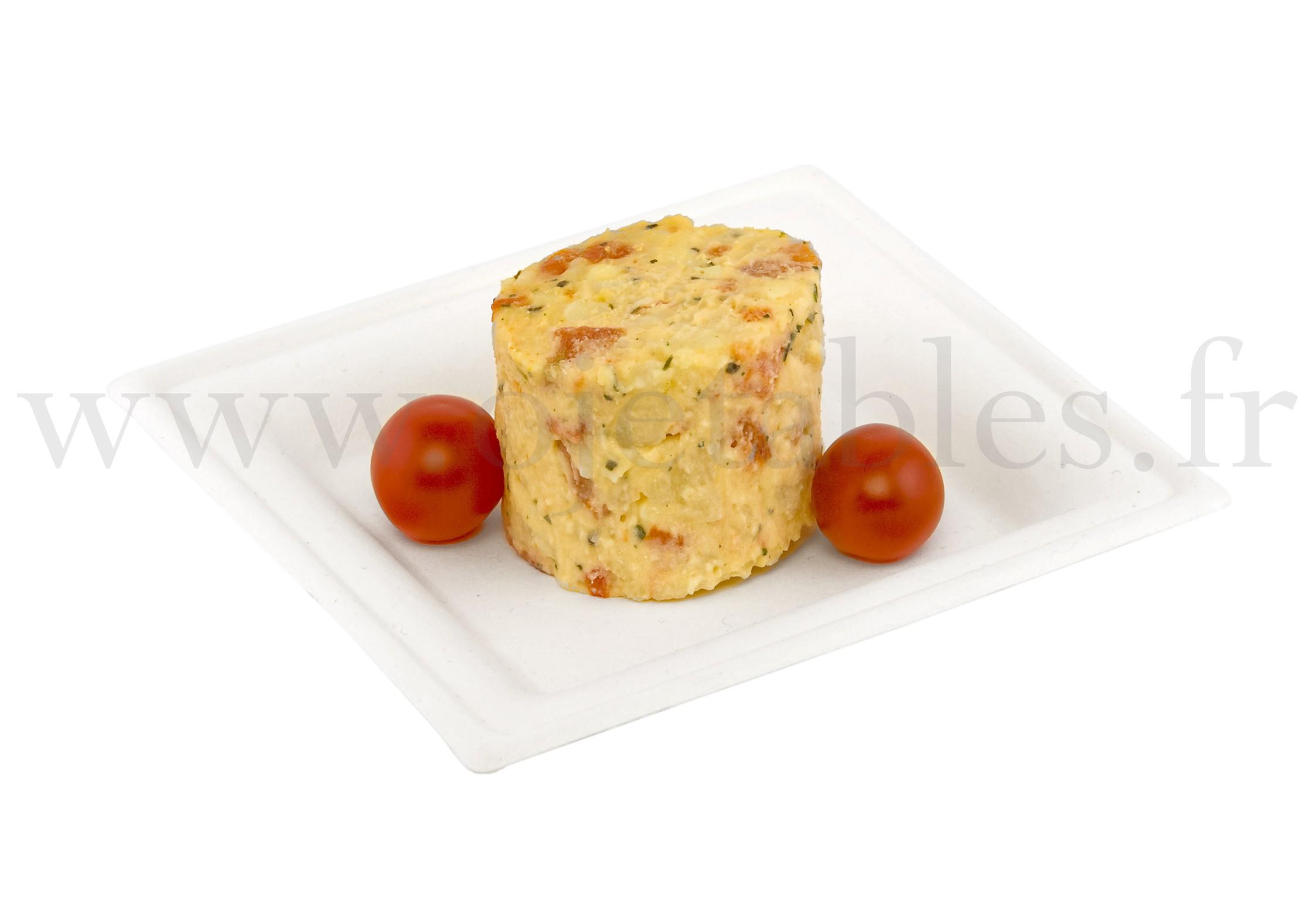 Assiette carré 16cm en pulpe de canne