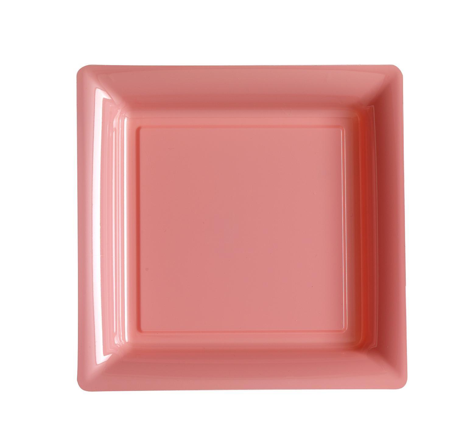 ASSIETTE JETABLE ROSE PASTEL 24cm
