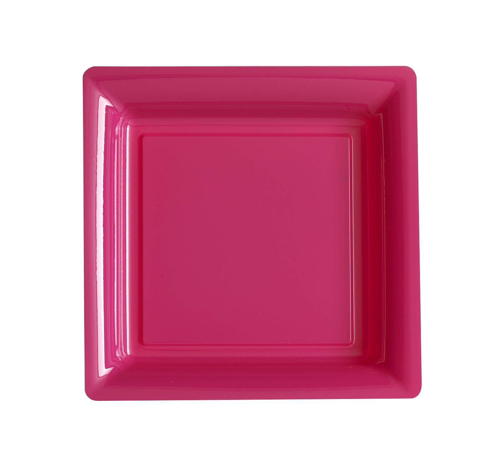 ASSIETTE JETABLE ROSE INDIEN 18cm
