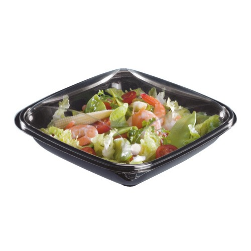 "BARQUETTE SALADE AVEC COUVERCLE ""CRUDIPACK"" 750g"