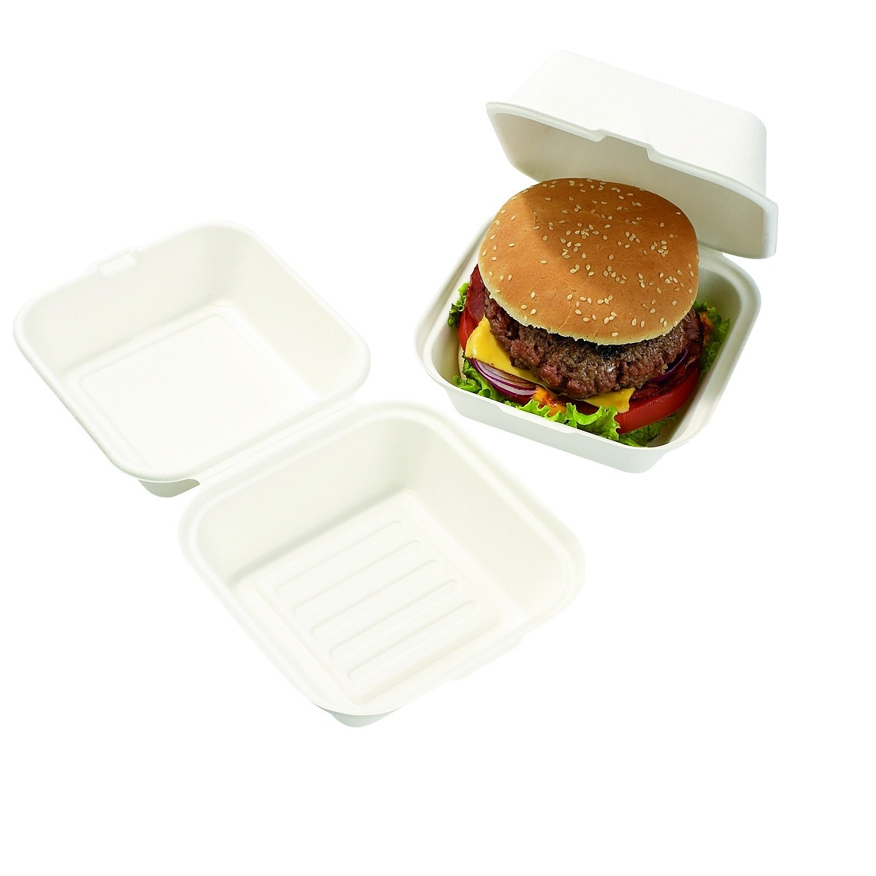 Boite Burger biodegradable 15x15
