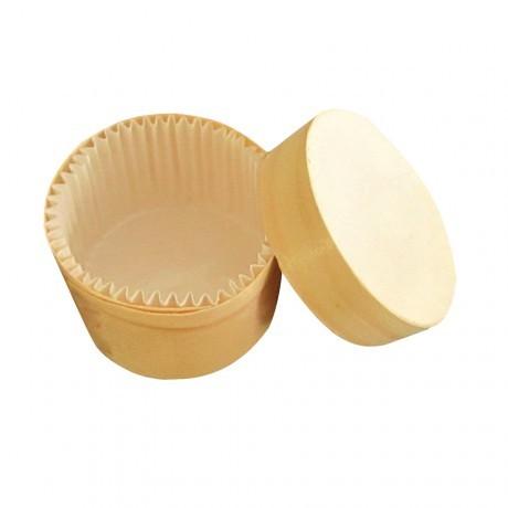 Boite en bois ronde avec caissette 15cl et couvercle