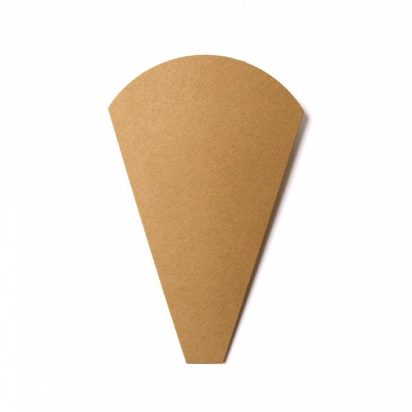 Cone a crêpe en papier Kraft