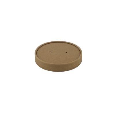 COUVERCLE brun POUR POT EN CARTON Ø 99mm