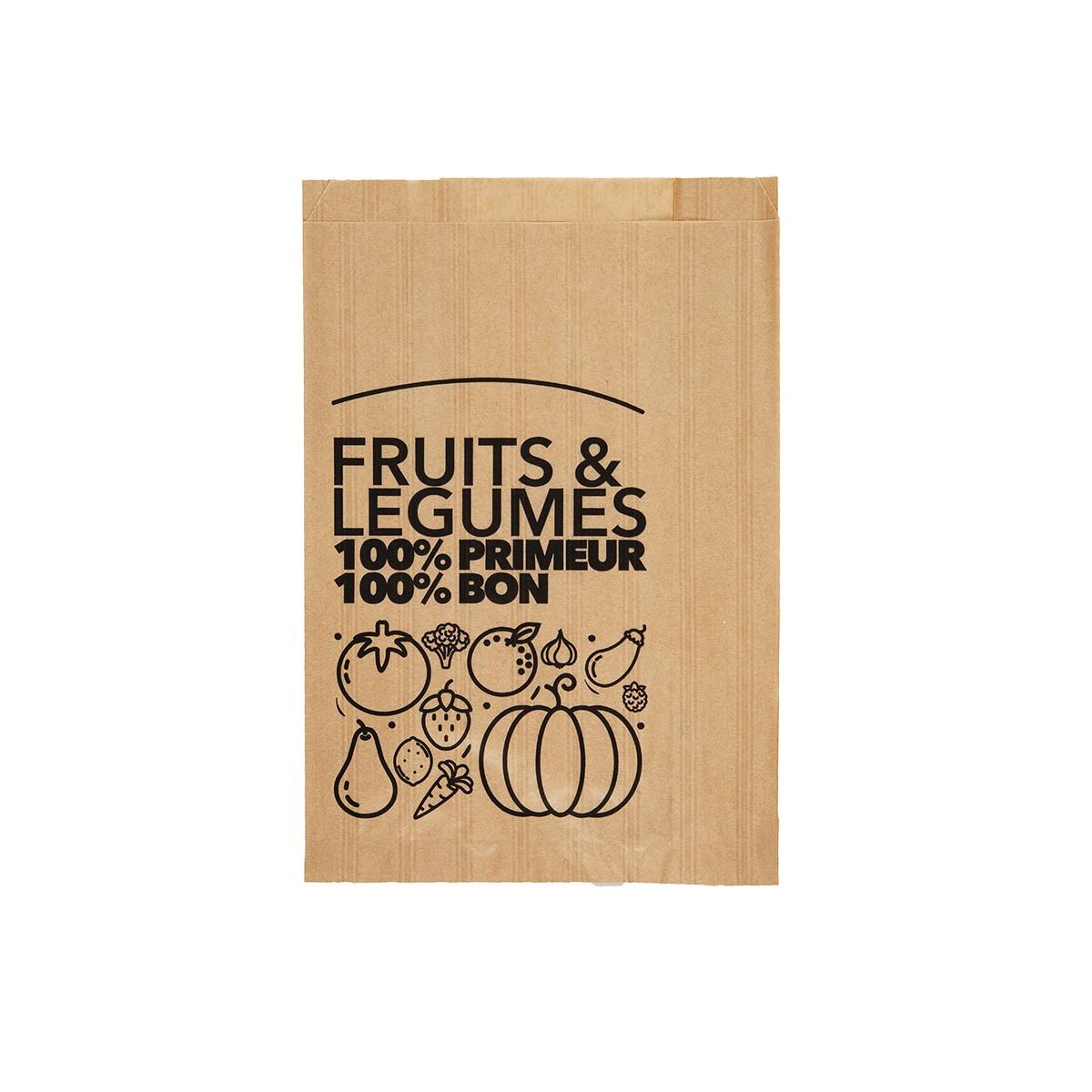 Sac fruits et légumes papier kraft brun