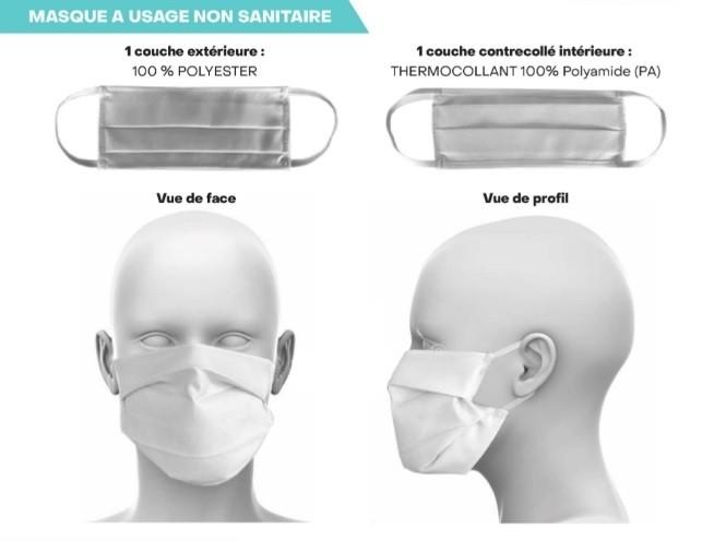 Masque tissu Homoloqué AFNOR