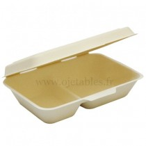 Lunch Box 2 compartiments biodegradable 1000ml