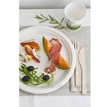 Assiette biodegradable ronde 23cm