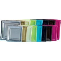 Assiette plastique carré 29cm de couleur