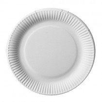 Assiette carton blanc Bio ø 18 cm