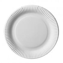 Assiette carton blanc Bio ø 23 cm