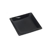 Assiette Fluid' Noir 16x16