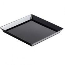 Assiette Quartz noir 13x13cm