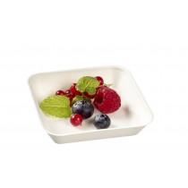 Assiette Kanopée 10x10 Blanc Bio