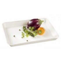 Assiette Kanopée 20x15 Blanc Bio