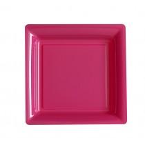 ASSIETTE JETABLE ROSE INDIEN 29cm