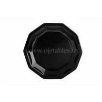 Assiette jetable noire ø 19 cm