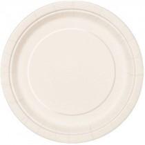 Assiette carton blanc RIGIDE Bio  ø 26 cm