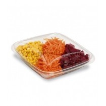 "BARQUETTE SALADE AVEC COUVERCLE ""CRUDIPACK"" CRISTAL 500g"