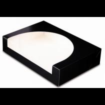 Boite pâtissière 28x42 noire avec fenêtre
