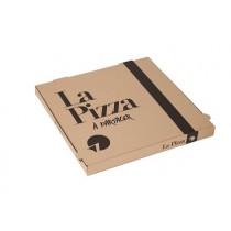 """BOITE PIZZA BRUNE 33x33x3.5cm """"A partager"""""""