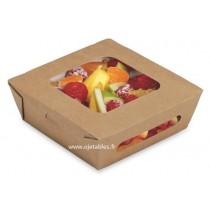 Boîte salade avec couvercle charnière 320ml
