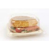 Couvercle assiette naturel biodegradable 14 cm