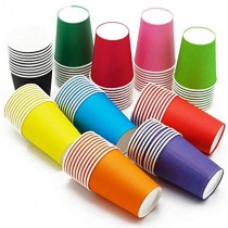 Gobelet carton de couleur 200ml