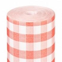 """Nappe Vichy rouge 25m non tissé 70g/m² gamme """"Like Linen"""""""