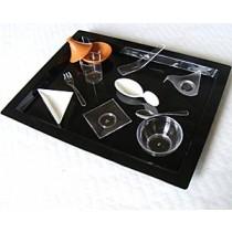 PLATEAU JETABLE SHANGHAI Noir 37x29cm Très Rigide avec couvercle