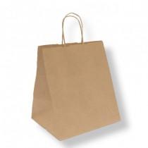 Sac Papier Kraft brun 26+20x27cm