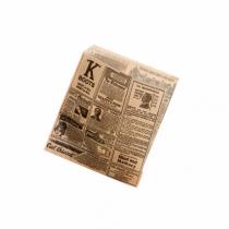 """SACHETS OUVERTS 2 CÔTES """"TIMES"""" 13X14 CM"""