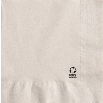 SERVIETTES 100% RECYCLEE BIODEGRADABLE 2 PLIS 33x33