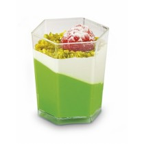 Verrine plastique hexagonale 5cl Alphaform