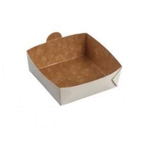 Barquette carré en carton laminé 12cm