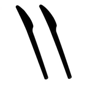 Couteau Noir biodégradable PLA