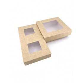 Kit 3 boîtes kraft avec couvercle séparé