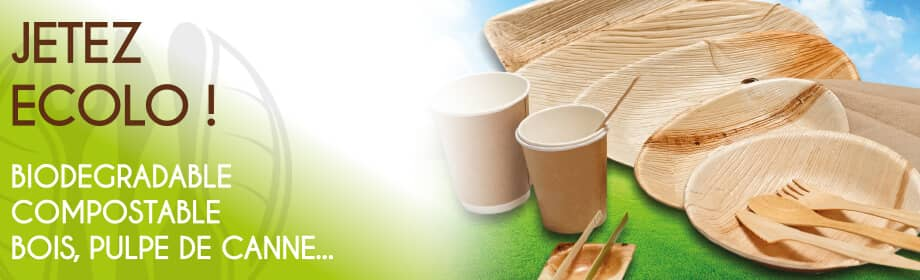 Jetez ecolo ! Biodégradable, compostable, bois, pulpe de canne...